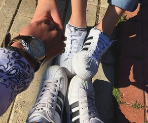 adidas, couple, and love image