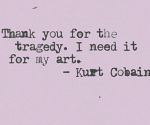 quotes, kurt cobain, and art image