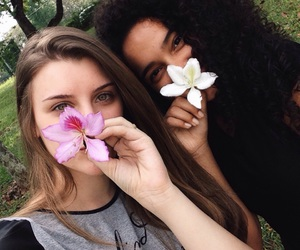 blondie, curly, and flower image