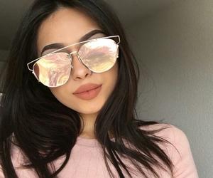 girl, sunglasses, and make up image