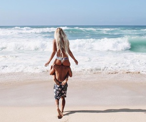 beach and couple image