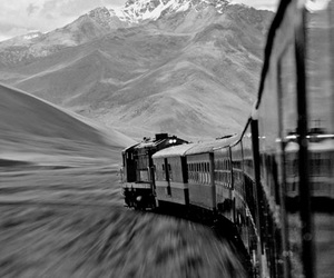 train, mountains, and travel image