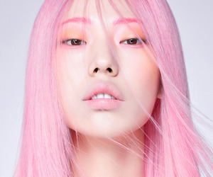 pink, girl, and asian image