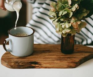 milk, coffee, and vintage image