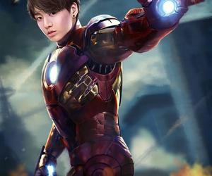 bts, jungkook, and iron man image