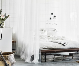 bed, ikea, and room image