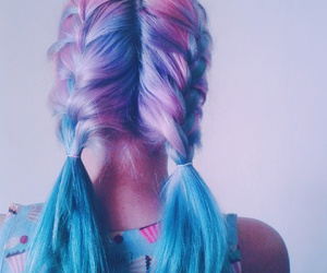 aesthetic, haircolor, and cool image