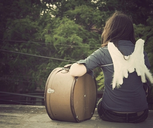 Alas, angel, and suitcase image