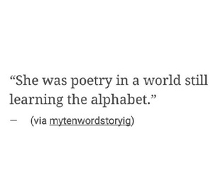 girl, intelligence, and poetry image