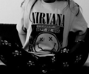 nirvana and black and white image
