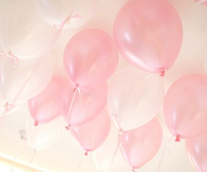 pink, balloons, and cute image