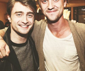 tom felton, daniel radcliffe, and harry potter image