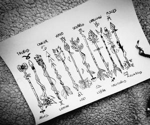 arrows, blackandwhite, and draw image