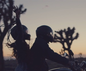 motorcycle, romance, and ariana grande image