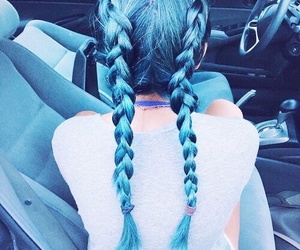 aesthetic, blue hair, and hair image