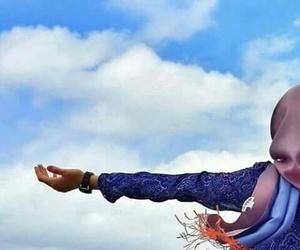 hijab and sky image