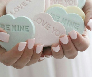 pastel, hearts, and pink image