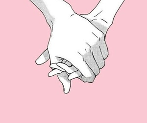 manos, pink, and love image