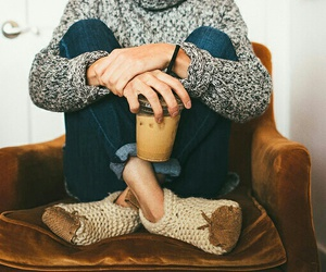 sweater, coffee, and cozy image