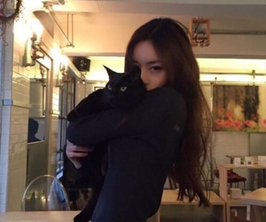 cat, ulzzang, and asian image