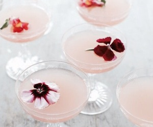 drink, flowers, and cocktail image