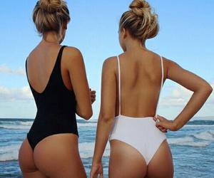 beach, bbf, and bikini image