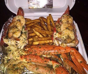 food, seafood, and yummy image