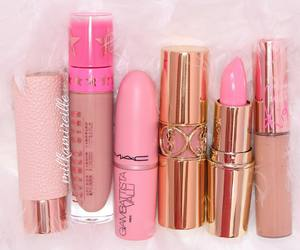lipgloss, lipstick, and make up image