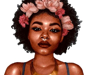 art, artwork, and african american woman image