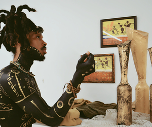 black man, body paint, and handsome image