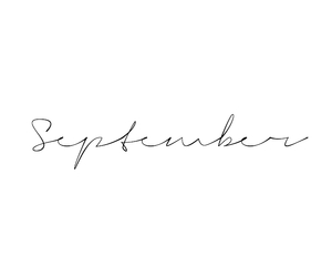 September, typography, and white image