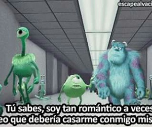 monsters inc, frases, and romantic image