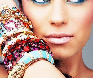 bracelet, makeup, and make up image