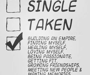 single, goals, and quotes image