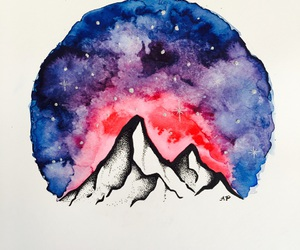 art, galaxy, and ink image