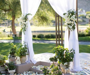 flowers, wedding, and green image