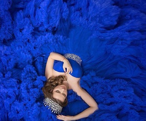 blue, crown, and dress image