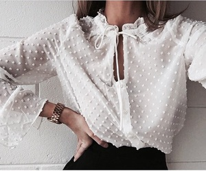 blouse, fashion, and dots image