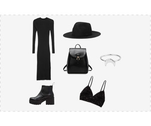 black, boot, and clothes image