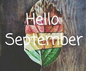 September, hello, and fall image