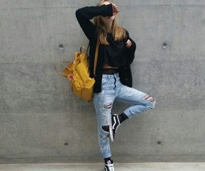girl, jean, and outfit image