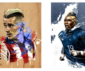 football, antoine griezmann, and pogba image