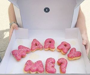 donuts, food, and marry me image