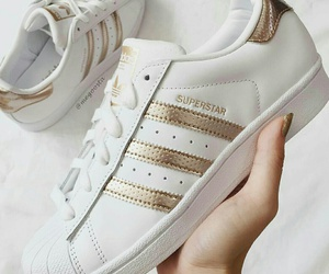 adidas, fashion, and gold image