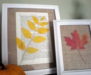 diy, leaves, and picture frames image
