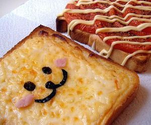 food, cute, and toast image