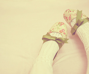 shoes, green, and bow image