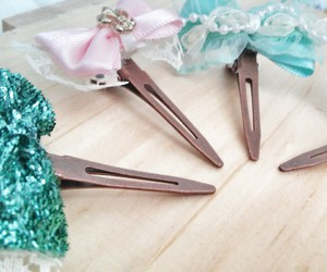 baby accessories, baby birthday gift, and baby bow clips image