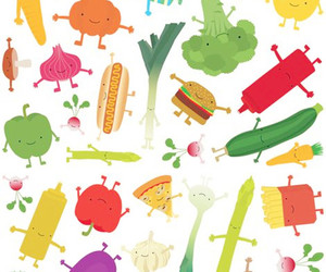 food, pattern, and vegetables image