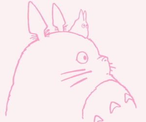 pink, anime, and totoro image